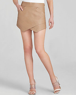 NEW BCBG MAX AZRIA SKIRT COLOR CAMEL Asymmetric angles 100% AUTHENTIC SZ M BEUTY