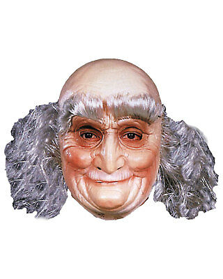 Morris Costumes Men's Old Man Over The Head Vinyl Mask. TF50032