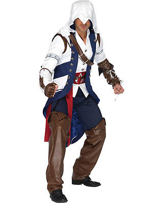 Morris Costumes Men's Long Sleeve Assassin Creed Connor Costume M/L. UAAS85172ML