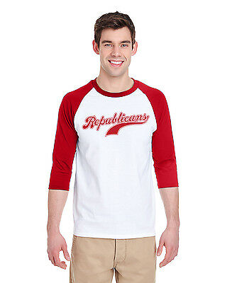 Republicans Baseball Raglan 3 4 Long Sleeve Jersey T Shirt   Steve Scalise