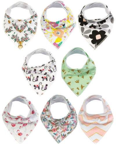 Wrapables® Baby Bandana Drool Bibs , Floral and Pink