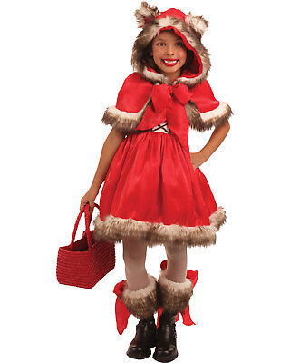 Morris Costumes Girls Storybook Little Red Riding Hood Wolf Red 3-4. PP4119XS](Little Red Riding Hood Wolf Halloween Costumes)