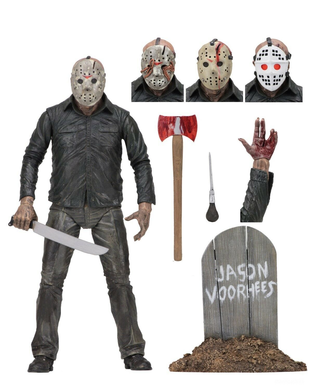 """Friday the 13th - 7"""" Scale Action Figure - Ultimate Part 5 J"""
