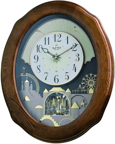 "Rhythm Clocks ""Joyful Timecracker Oak"" Magic Motion Clock"