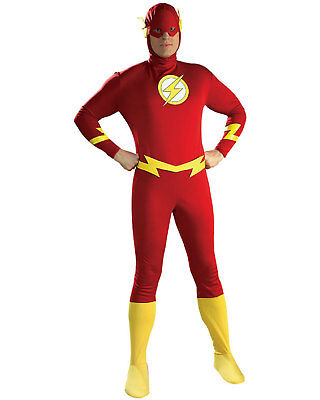 Cheap Villain Costumes (Morris Costumes Men's Superheroes & Villains Flash Complete Outfit L.)