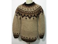 Herren Strick Pullover Warm Grobstrick Strick Norweger Pulli mit Wolle S-XL NEU