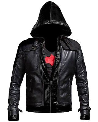 New Batman Arkham Knight Game Red Hood Leather Jacket & Vest Costume - Arkham Knight Costume