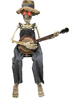 Morris Costumes New Skeleton Strumming Playing Banjo 40 Inches Prop. VA111](Banjo Playing Skeleton)