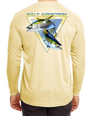 Salt Addiction Microfiber Poly fishing t shirt Moisture Wicking 30+ UV Tuna