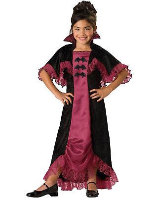 Morris Costumes Childrens Girls Classic Halloween Vampire Dress 8. IC17004C8 - Classic Vampire Child Halloween Costume