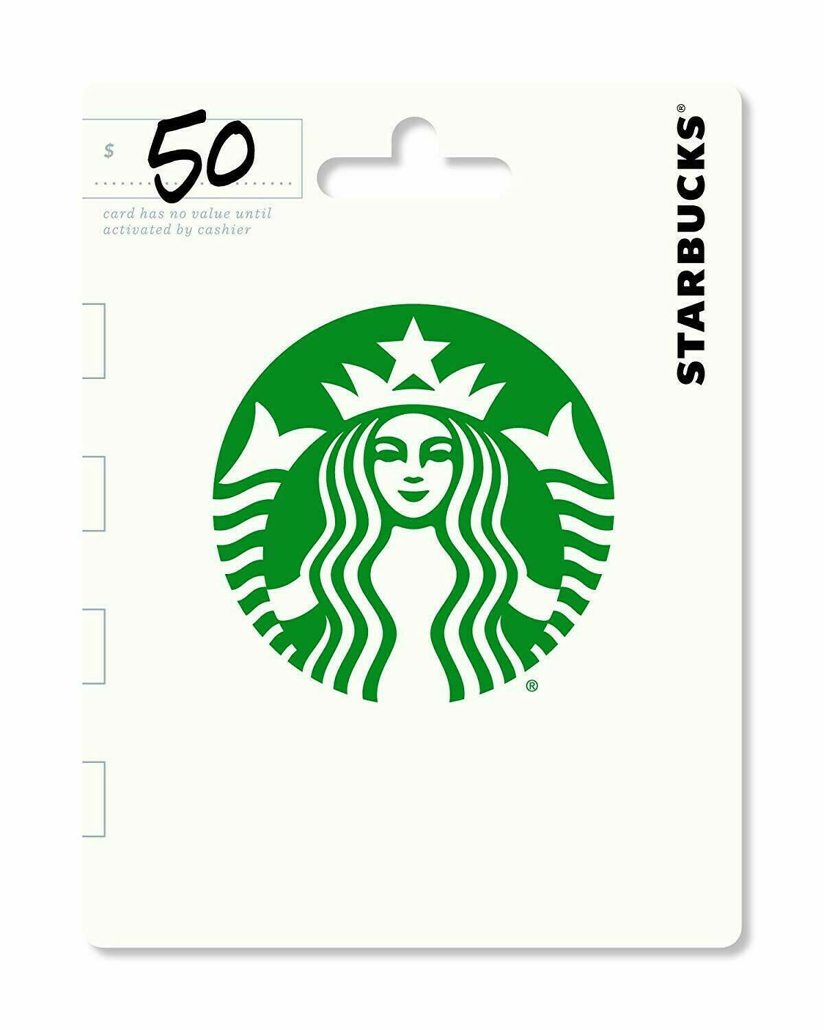 New Starbucks 50 Gift Card Loaded, Wrapped, Ready To Give FAST Free Shipping - $46.00