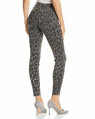 JOE'S JEANS Womens Charlie High Rise Skinny Ankle Gray Leopard Size 27 New $198