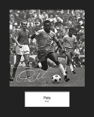 PELE - BRAZIL Signed 10x8 Mounted Photo Print - FREE DELIVERY