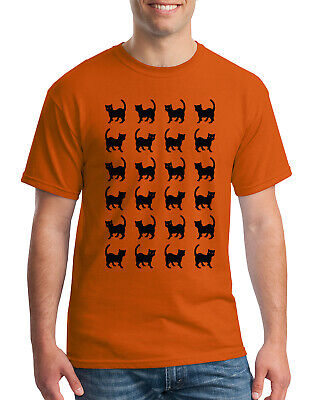 Easy Guy Costumes (Black Cat Halloween Shirt #2 Men's T-Shirt Fun Easy)