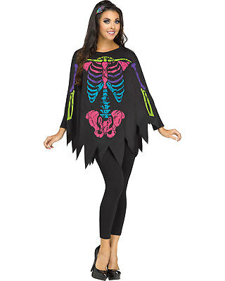Morris Costumes Women's New Halloween Skeleton Quick Costume One Size. FW90355C - Halloween Costumes C