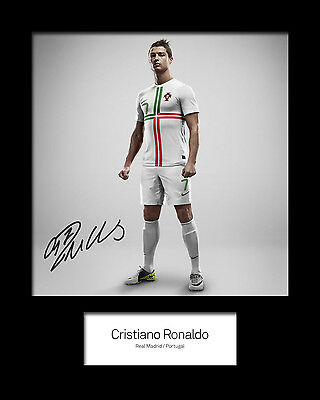 CHRISTIANO RONALDO #1 Signed Photo Print 10x8 Mounted Photo Print - FREE DEL