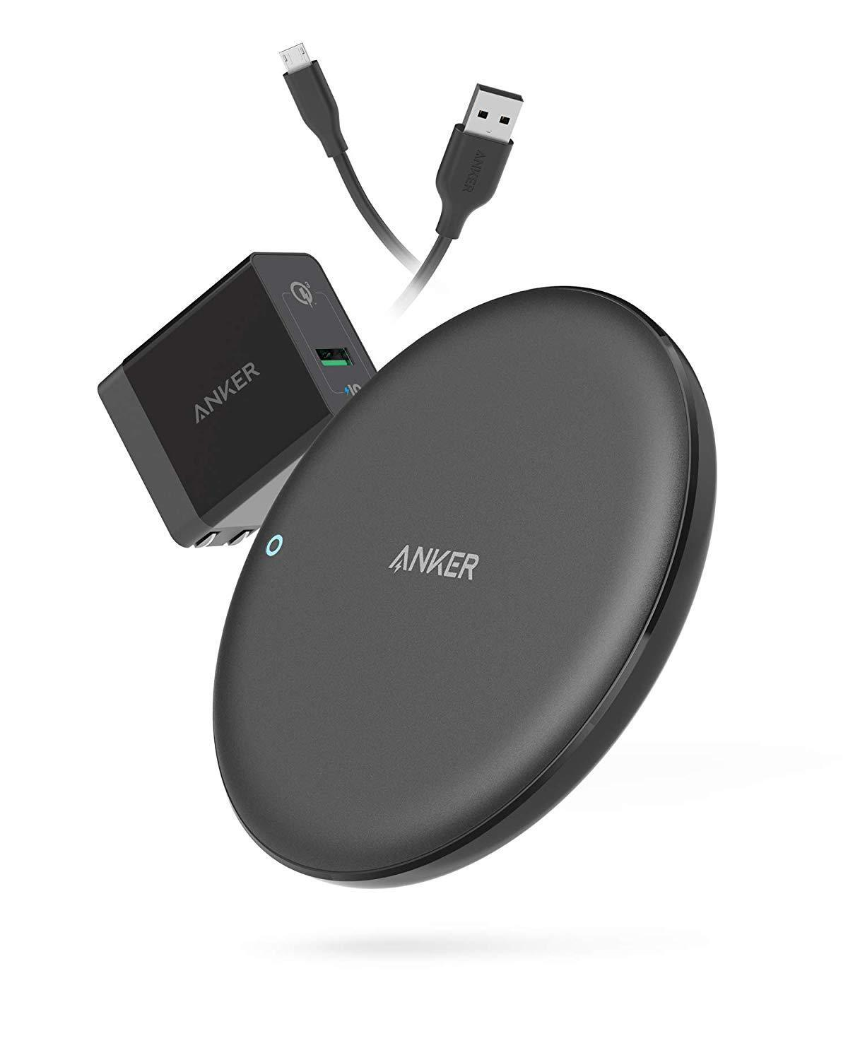 Anker PowerWave 7.5 Fast Wireless Charging Pad with Fan, Qi-