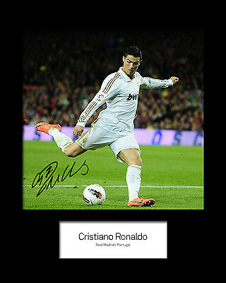 CHRISTIANO RONALDO #3 Signed Photo Print 10x8 Mounted Photo Print - FREE DEL