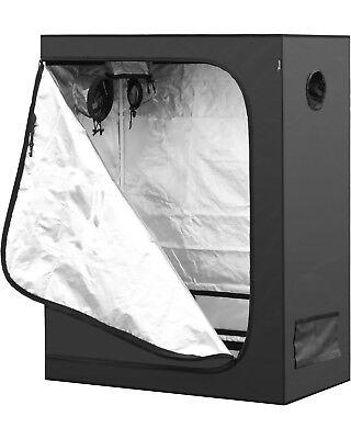 """iPower 48""""x24""""x60"""" 2'x4' Hydroponic Water-Resistant Mylar Indoor Grow Tent"""