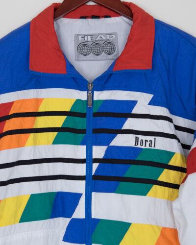Vintage HEAD Sportswear Doral Tracksuit blue red yellow green white men