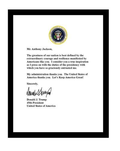 Donald Trump signed letter 8.5 x 11 print Customized to YOUR NAME 2020