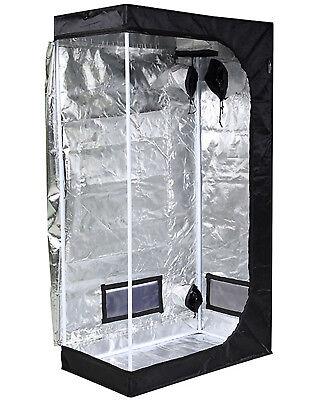 """iPower 36""""x20""""x62"""" Hydroponic Water-Resistant Mylar Indoor Grow Tent"""