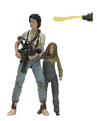 """Aliens - 7"""" Scale Action Figures - 30th Anniversary 2 Pack  Ripley & Newt - NECA"""