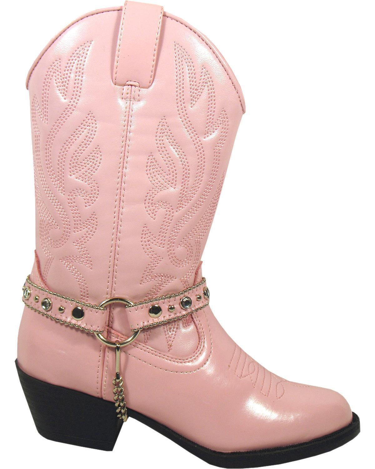 YOUTH SMOKY MOUNTAIN GIRLS CHARLESTON PINK WESTERN BOOTS 1179Y