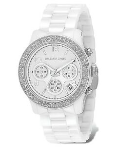 ***MINT Michael Kors White Ceramic Glitz Watch***