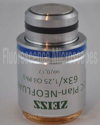 Zeiss Ec Plan-neofluar 63x 1.25 Infinity0.17 Oil Ph3 M27 Microscope Objective