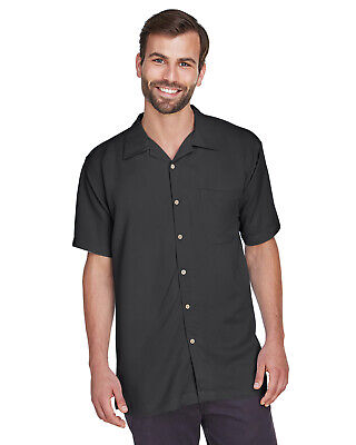 2-Pack Harriton Men's Bahama Cord Camp Shirt M570 (Lrg) Mens Cord Camp Shirt