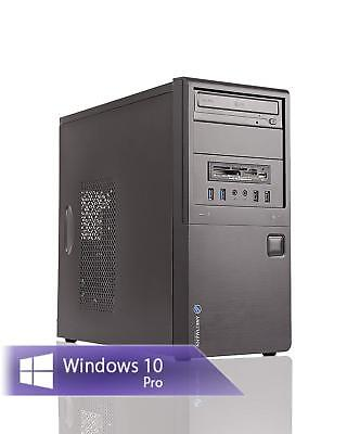 Neu PC Office Work Intel Core i5-4570 4x3,2GHz 8GB RAM 240GB-SSD DVDRW Win10 PRO