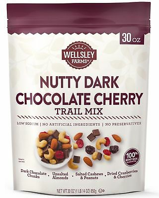 Mix Dark Chocolate - 🔥 Wellsley Farms Nutty Dark Chocolate Cherry Trail Mix, 30 oz. (850 g.)