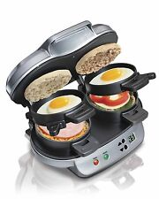Hamilton Beach Dual Breakfast Sandwich Maker Kitchen Countertop Press | 25490