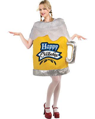 Morris Costumes Women's Adult Humor Happy Octoberfest Beer Mug Comical. FM65774 - Beer Mug Costumes
