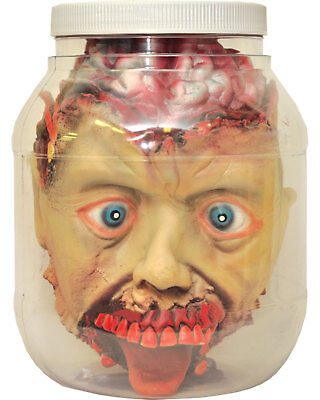 Morris Costumes Laboratory Head In A Jar Prop For Halloween One Size.