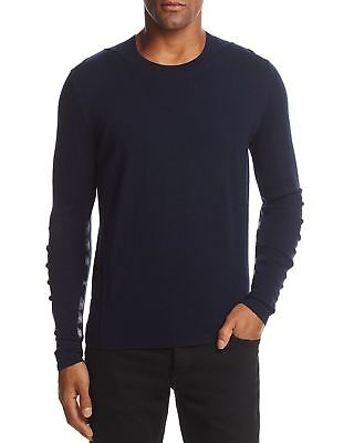 Burberry Navy Carter Check Detail Merino Wool Crewneck Pullover Sweater $390 - Carters Pullover