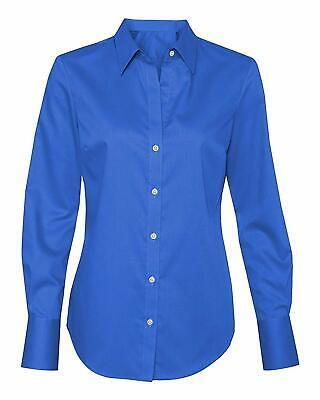 Calvin Klein Women's Non-Iron Dobby Pindot Dress Shirt