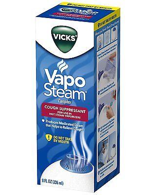 Vicks Vaposteam Liquid For Hot Steam Humidifier Cough Suppressant 8Oz