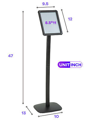Sign Stand Base Sign Holder Standing Pedestal Poster Stand 8.5×11 Inch Sign Business & Industrial