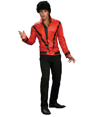 Morris Costumes Men's Tv & Movie Characters Michael Jackson Outfit S. RU889348SM - Michael Jackson Red Outfit