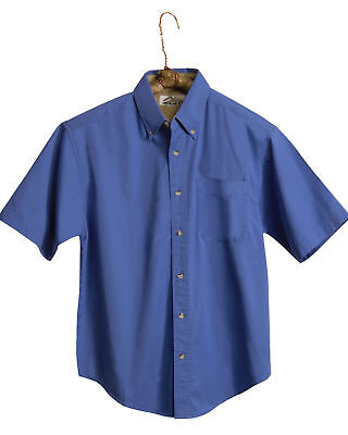 Tri-Mountain Men's Big And Tall Short Sleeve Button Down Shirt. (Big And Tall Short Sleeve Dress Shirts)