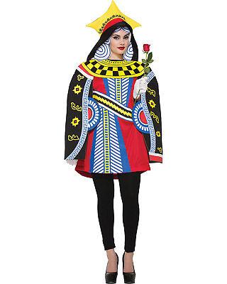 Morris Costumes Women's Queen Of Hearts Cards Colorful Costume 8-12. FM76830 - Queen Of Cards Costume