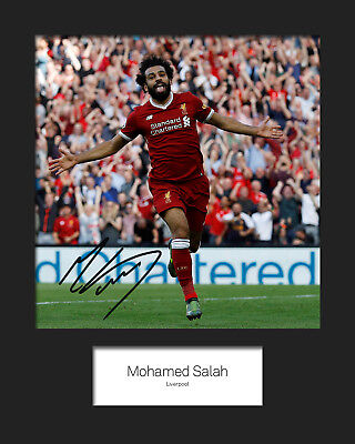 MOHAMED SALAH #2 - LIVERPOOL Signed 10x8 Mounted Photo Print - FREE DELIVERY