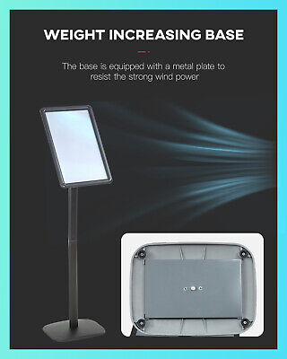 Sign Stand Base Sign Holder Standing Pedestal Poster Stand 11×17 Inch Curved Men Business & Industrial
