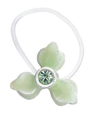 NEW PILGRIM SKANDERBORG, DENMARK Green Crystal Flower Toe Ring