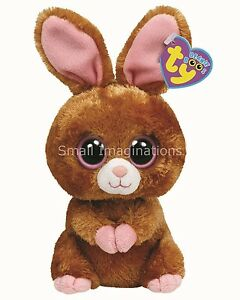 Hopson the Brown Bunny Rabbit - TY Beanie Boos - Boo Plush Teddy - Soft Toy