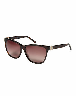 NWT Authentic Swarovski Havana /Brown Gradient Crystal Square Sunglasses SK0121 Crystal Brown Gradient Sunglasses