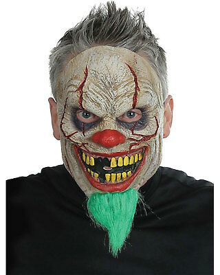 Morris Costumes Adult Unisex Bad News Latex Clown Face Mask One Size. MR039109 - Bad Clown Costume