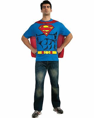 Men's Superheroes & Villains Superman Shirt w/Cape X-Large Rubie's